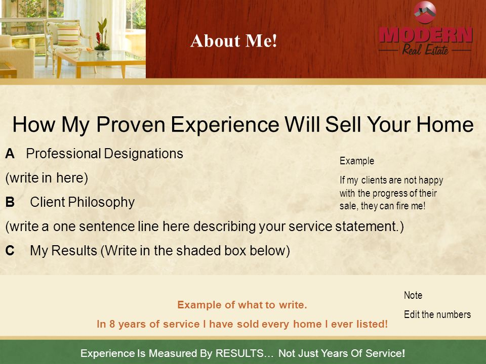 How My Proven Experience Will Sell Your Home