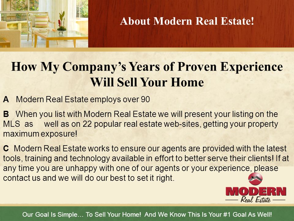 About Modern Real Estate!