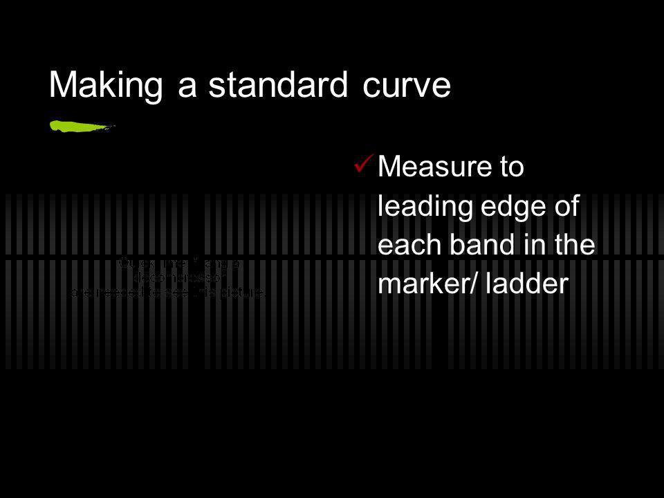 Making a standard curve