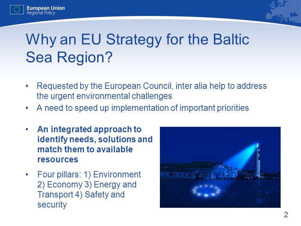 Why an EU Strategy for the Baltic Sea Region