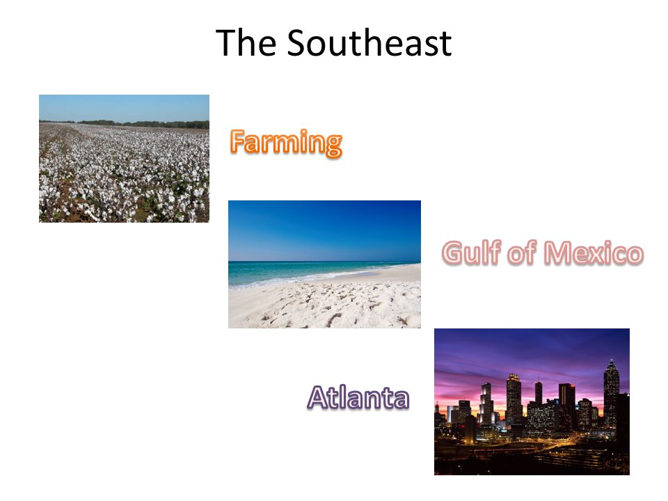 The Southeast Farming Gulf of Mexico Atlanta
