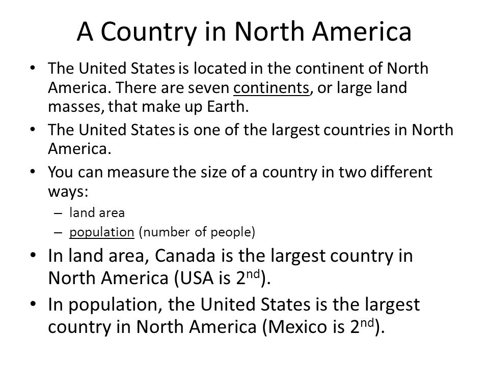 A Country in North America