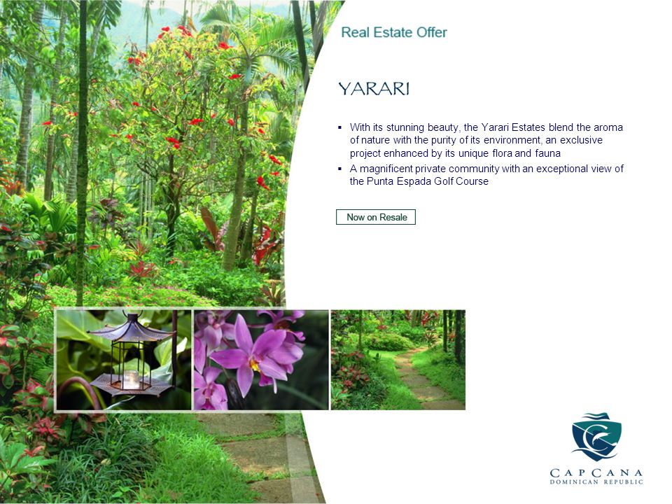 With its stunning beauty, the Yarari Estates blend the aroma of nature with the purity of its environment, an exclusive project enhanced by its unique flora and fauna