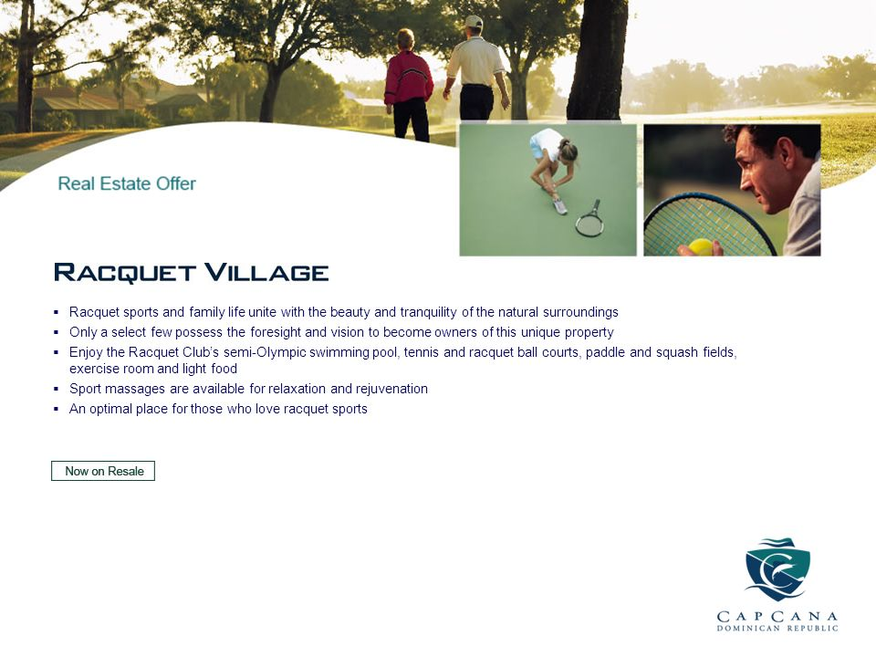 Racquet sports and family life unite with the beauty and tranquility of the natural surroundings
