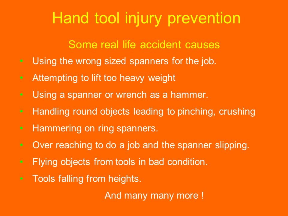 Hand tool injury prevention