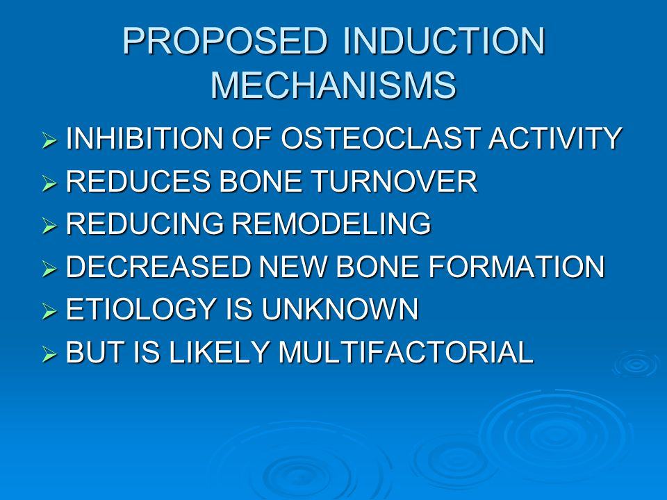 PROPOSED INDUCTION MECHANISMS