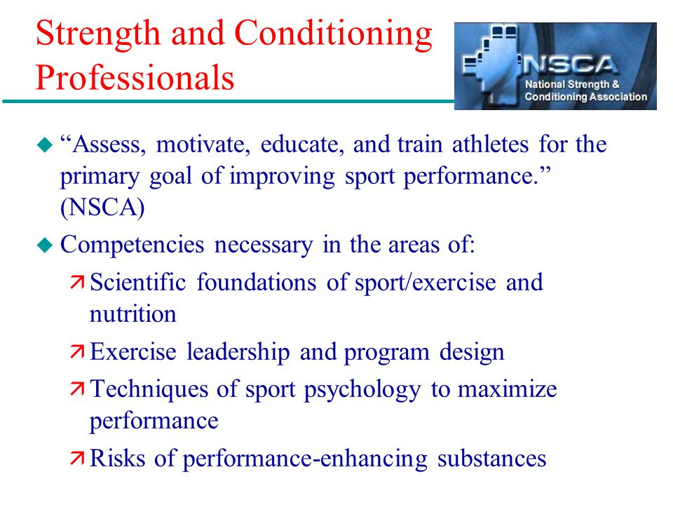 Strength and Conditioning Professionals