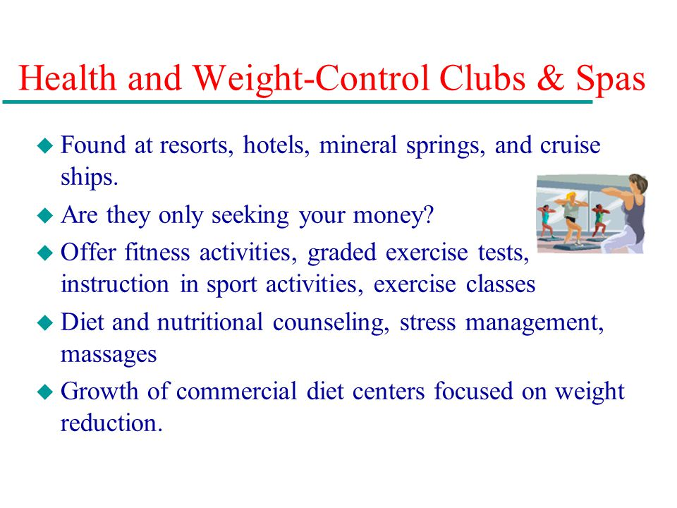 Health and Weight-Control Clubs & Spas