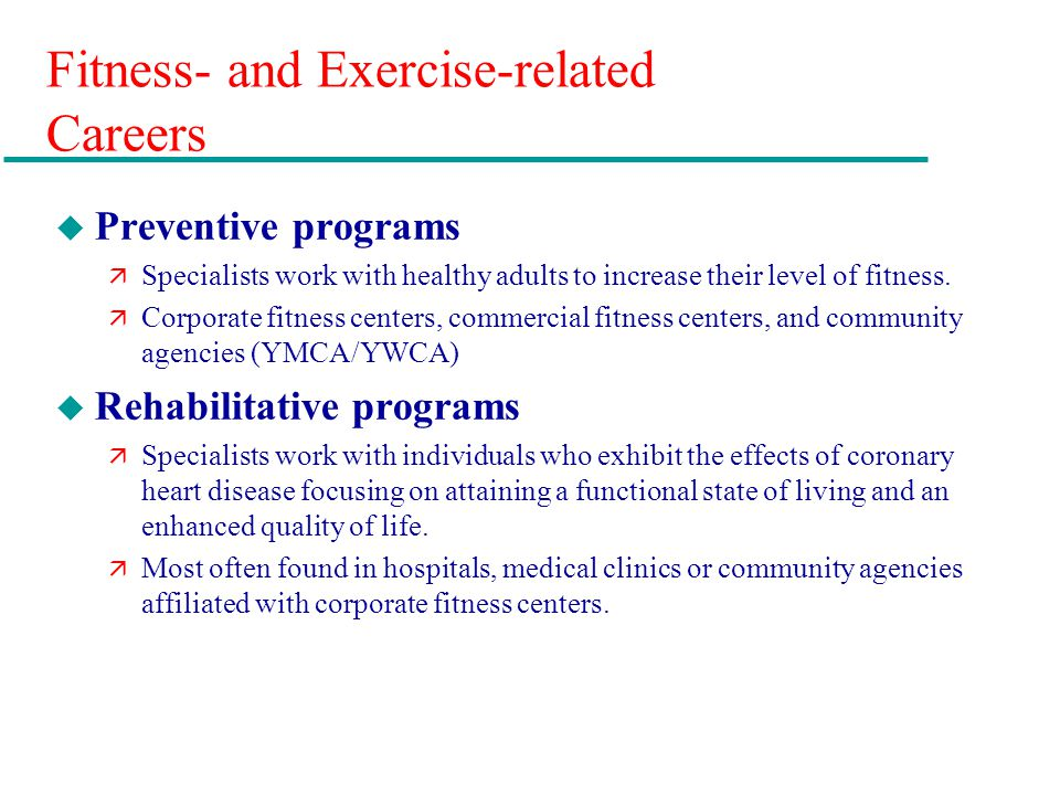 Fitness- and Exercise-related Careers