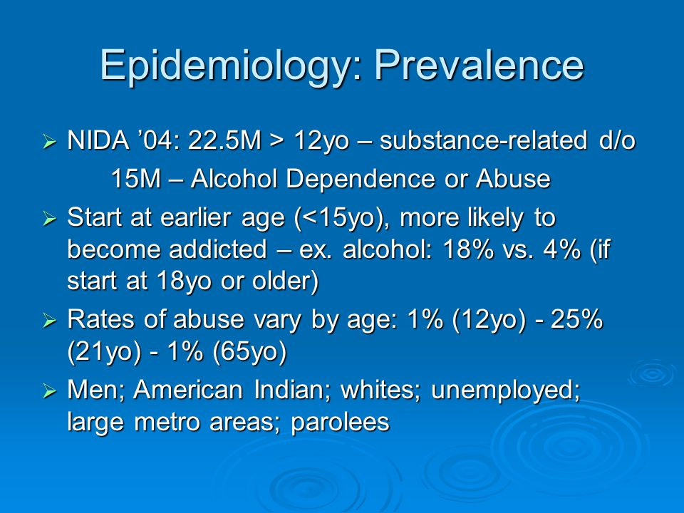 Epidemiology: Prevalence