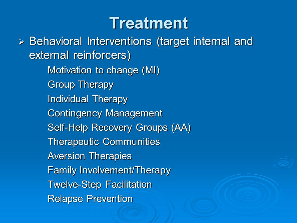 Treatment (motivational --interviewing)