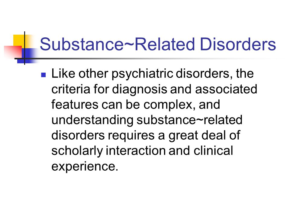 Substance~Related Disorders