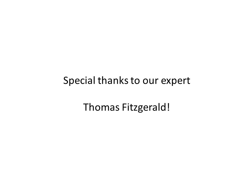 Special thanks to our expert