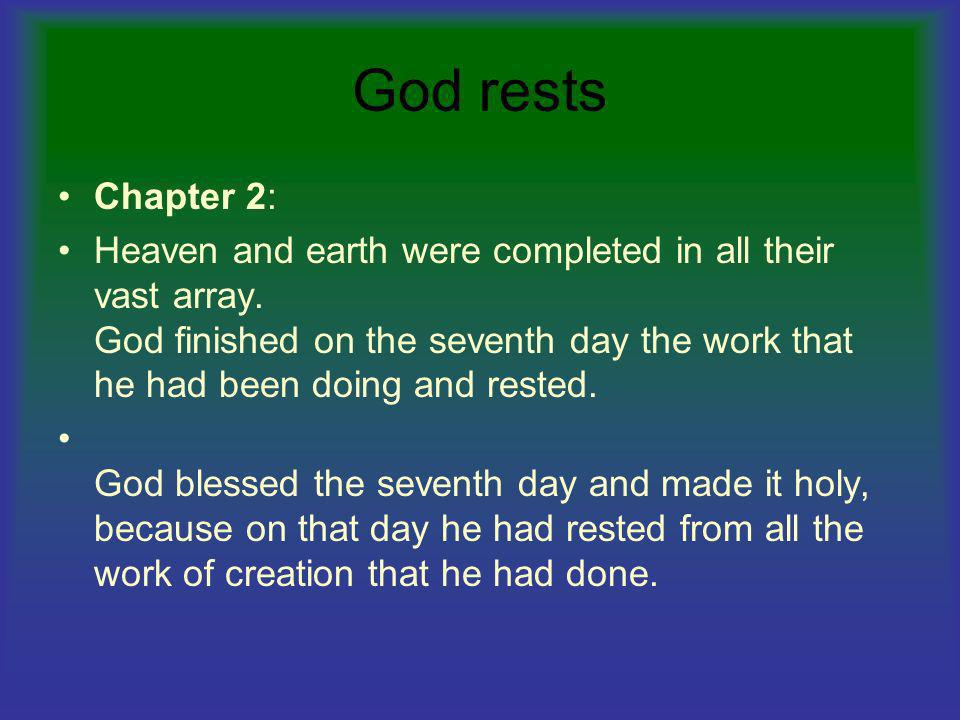 God rests Chapter 2: