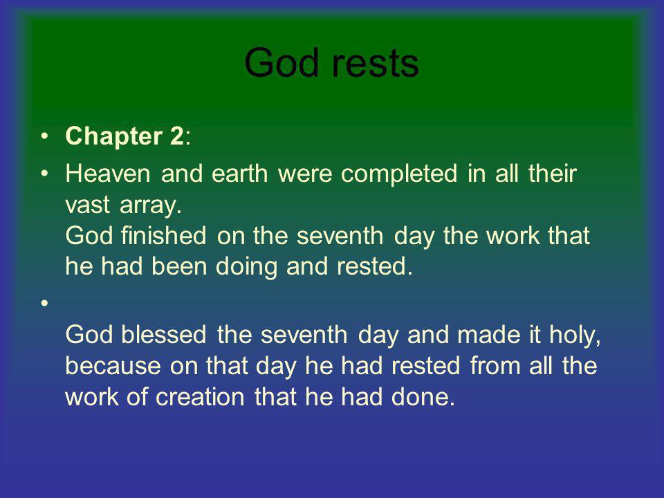 God rests Chapter 2: