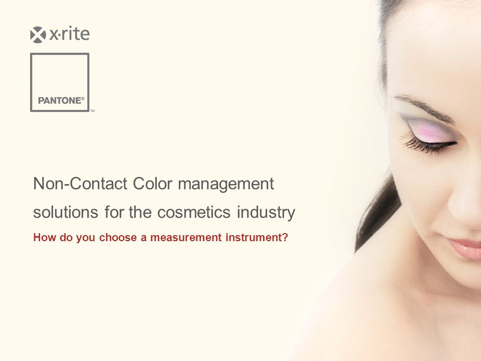 Non-Contact Color management solutions for the cosmetics industry