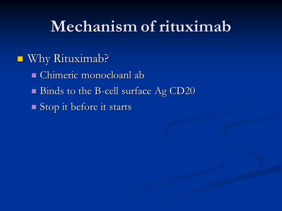Mechanism of rituximab
