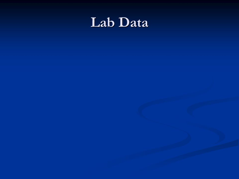 Lab Data