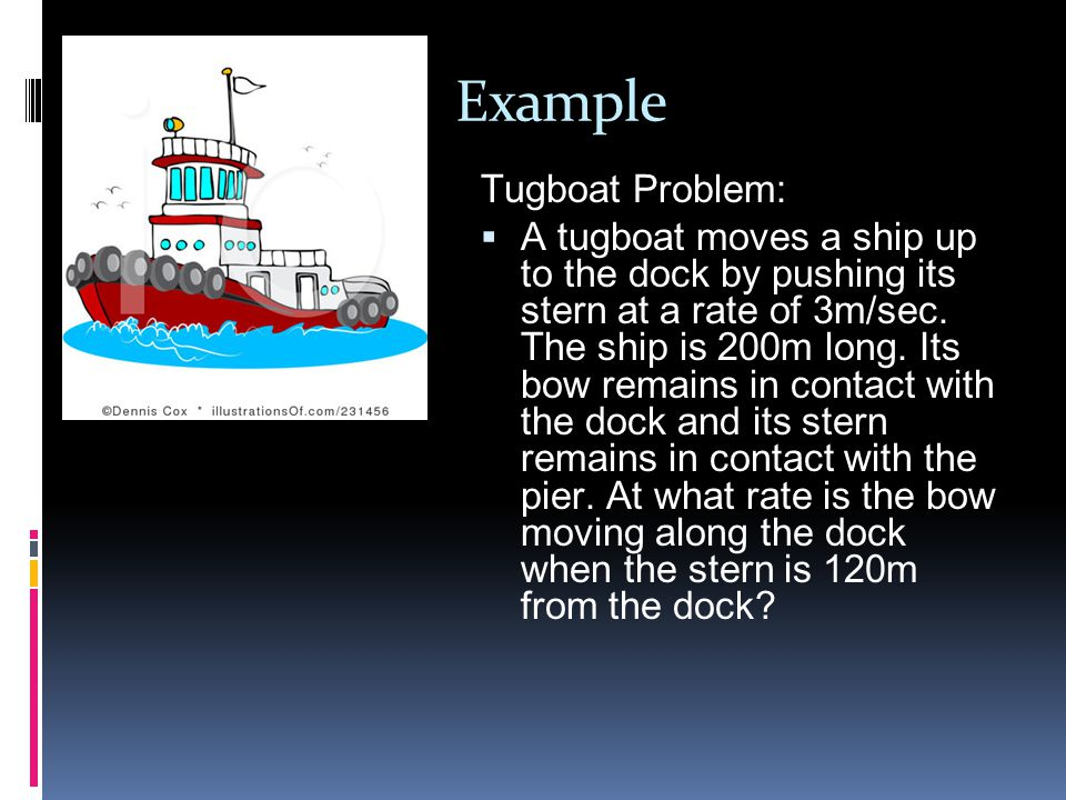 Example Tugboat Problem:
