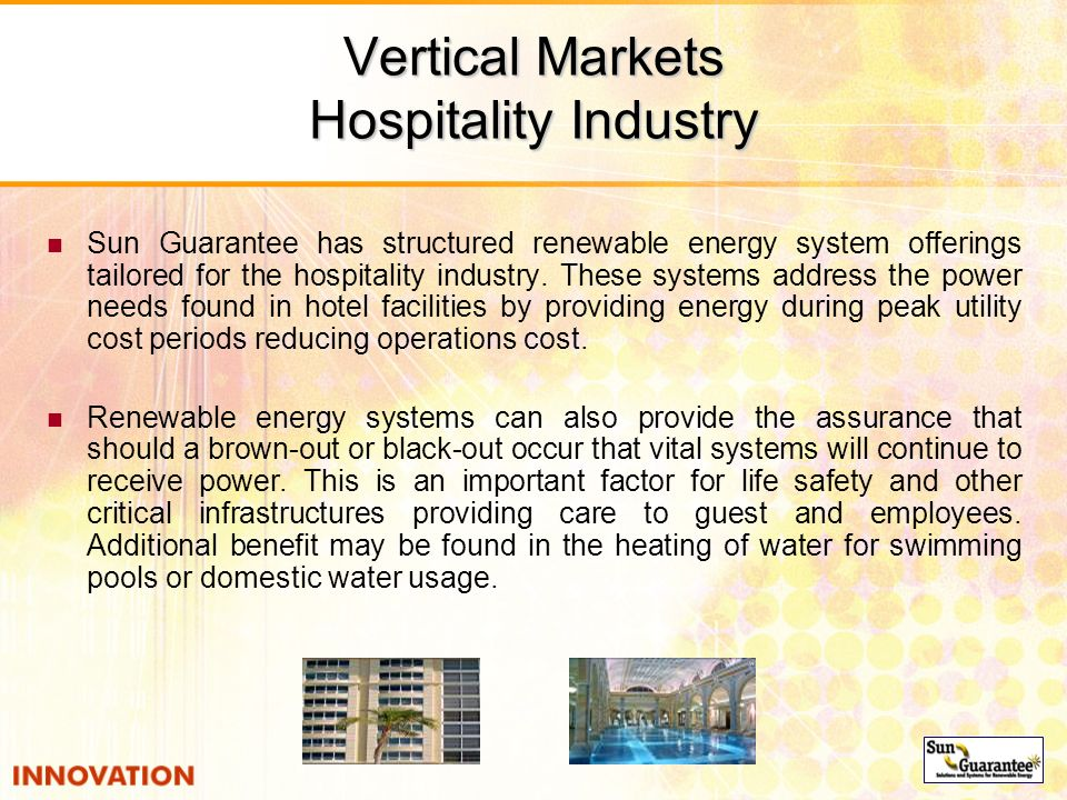 Vertical Markets Hospitality Industry