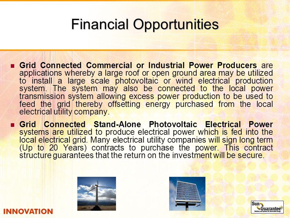 Financial Opportunities