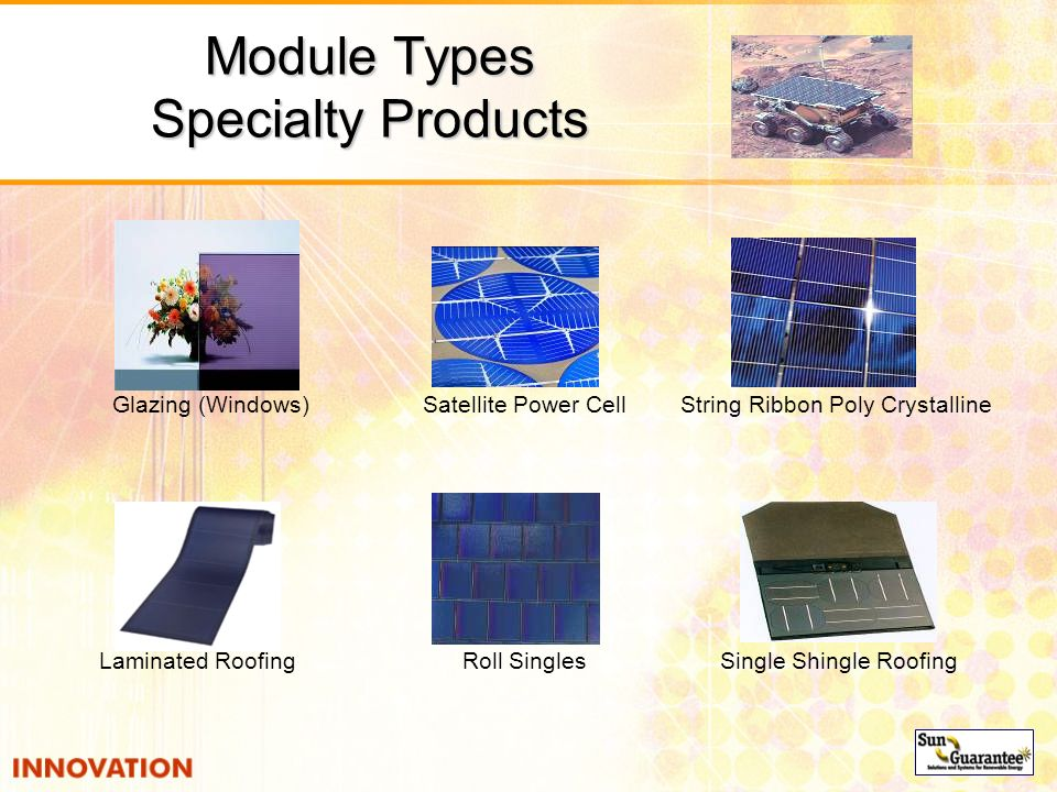 Module Types Specialty Products