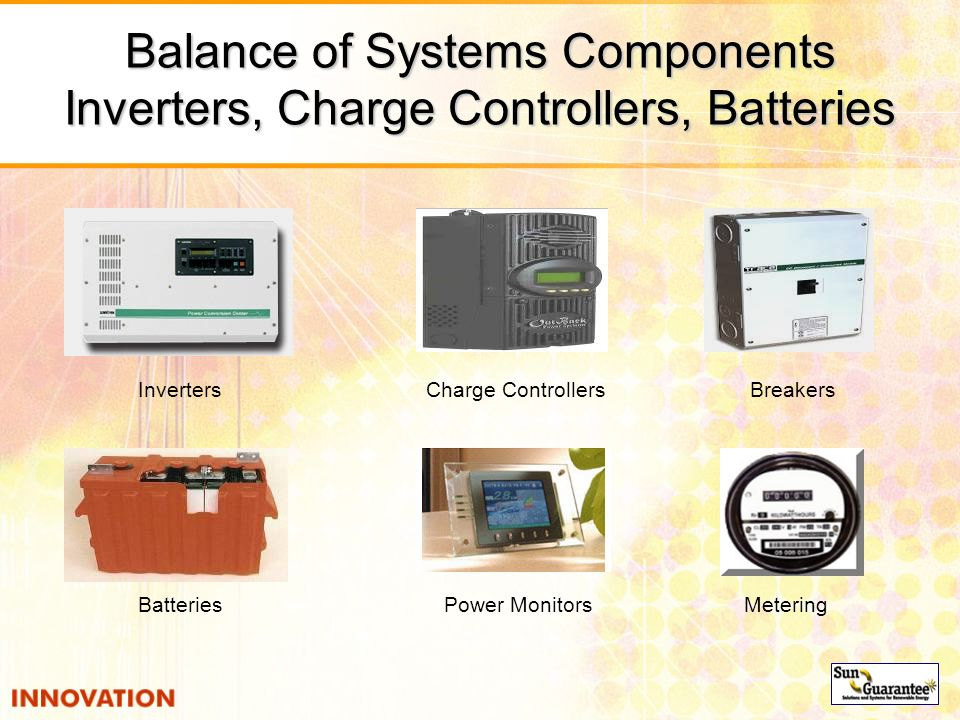 Balance of Systems Components Inverters, Charge Controllers, Batteries