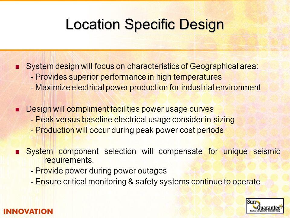 Location Specific Design
