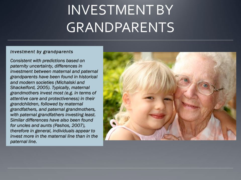 INVESTMENT BY GRANDPARENTS