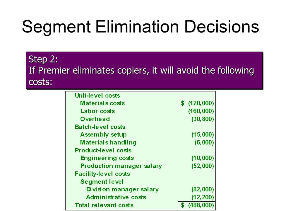 Segment Elimination Decisions