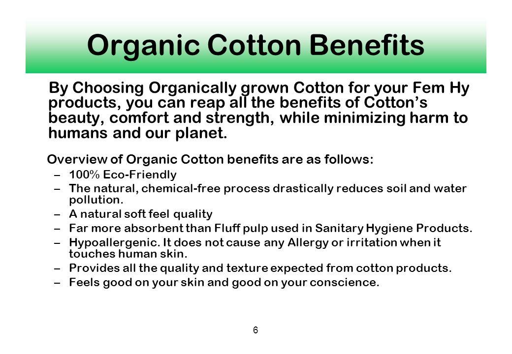 Organic Cotton Benefits