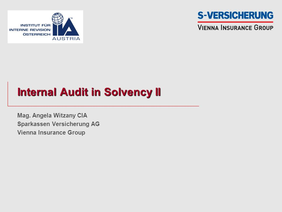 Internal Audit in Solvency II