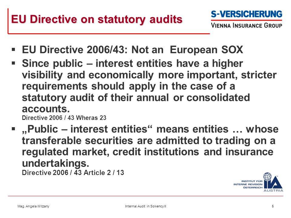 EU Directive on statutory audits