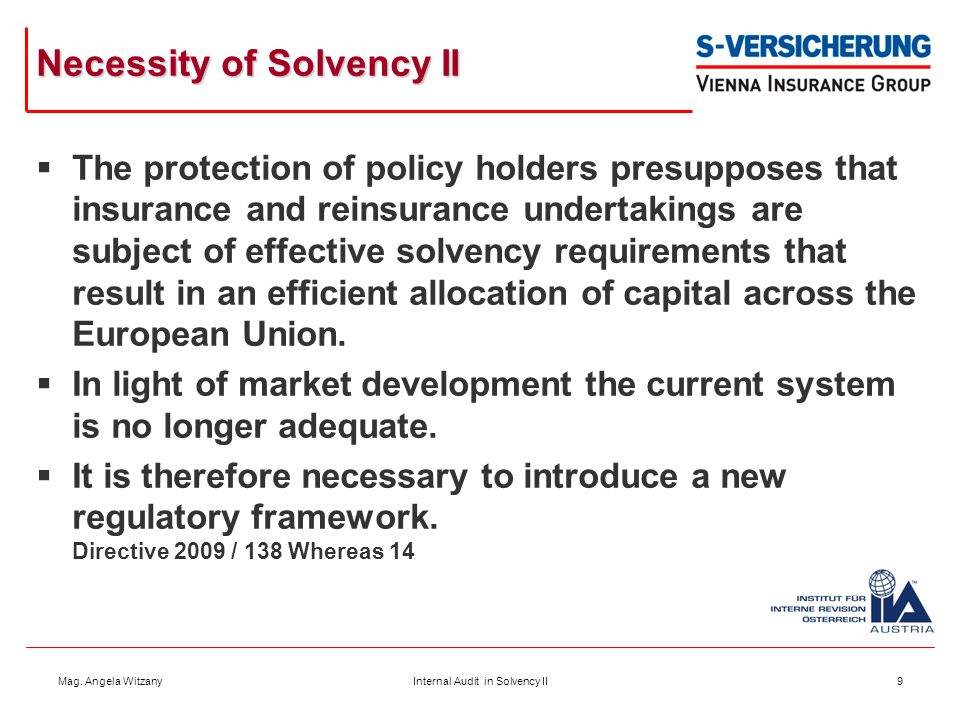 Necessity of Solvency II