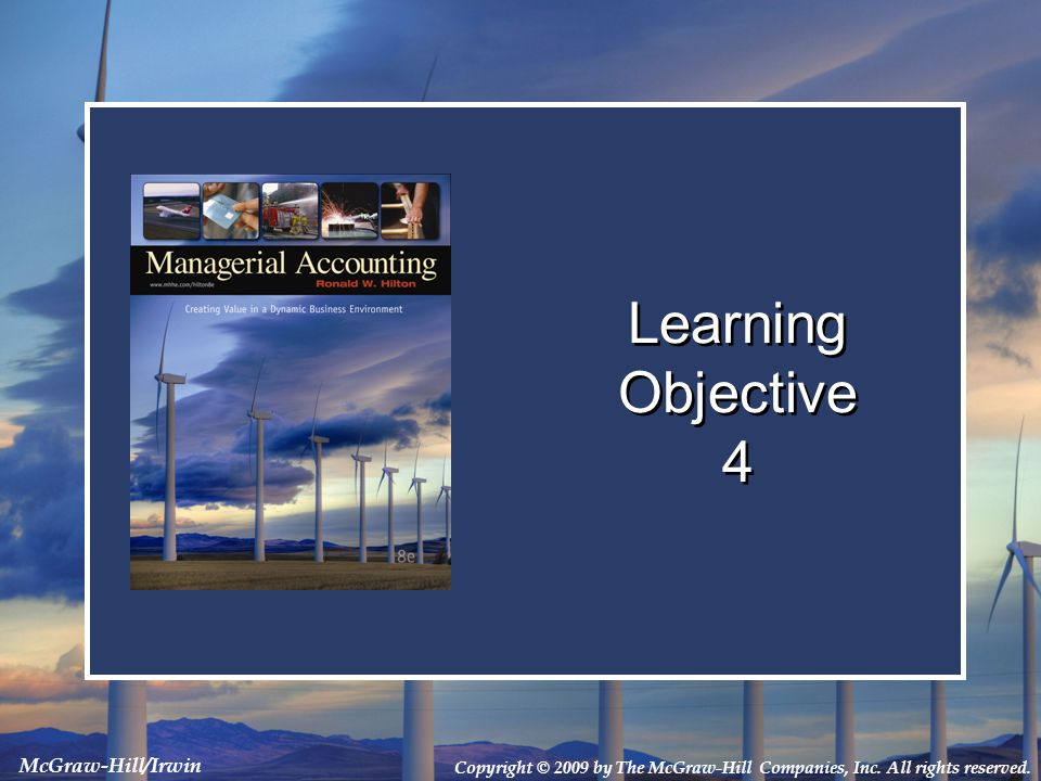 Learning Objective 4