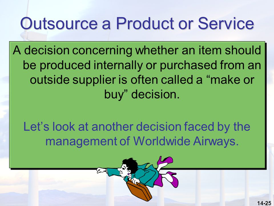 Outsource a Product or Service