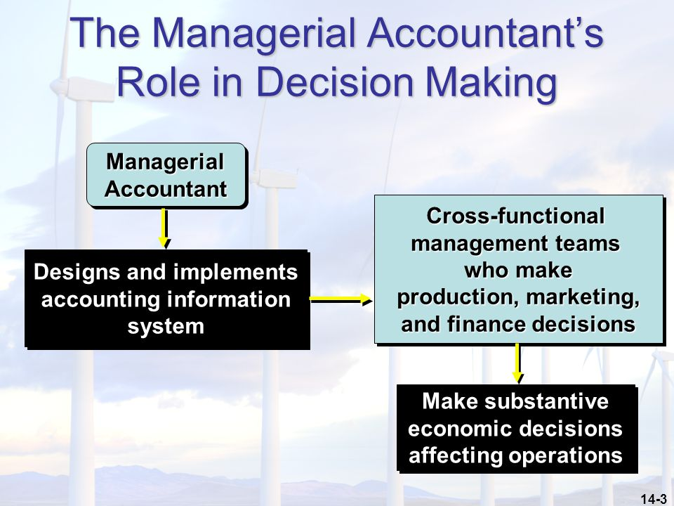 The Managerial Accountant's Role in Decision Making