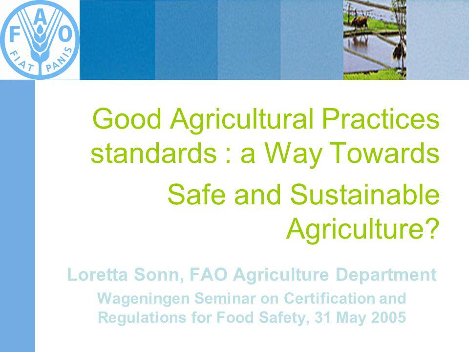 Loretta Sonn, FAO Agriculture Department