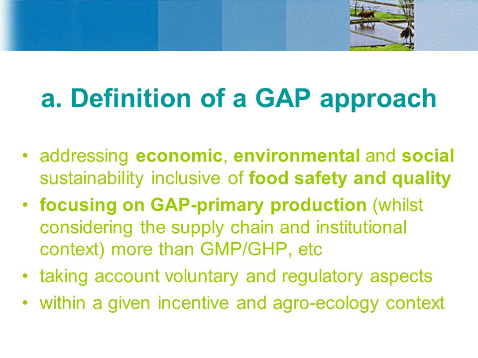 a. Definition of a GAP approach