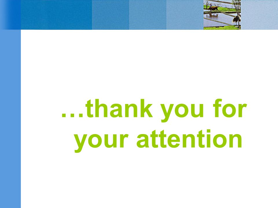 …thank you for your attention