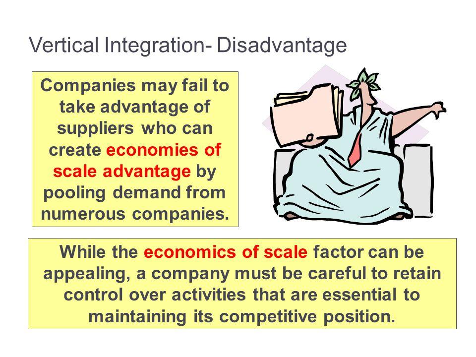 Vertical Integration- Disadvantage