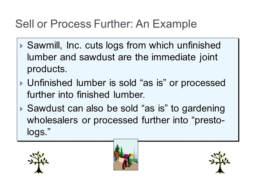 Sell or Process Further: An Example