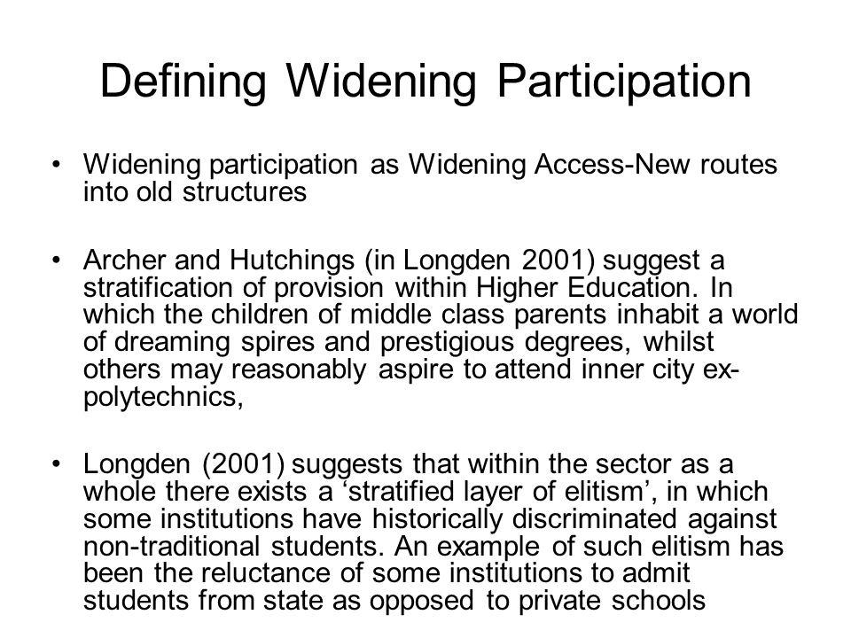 Defining Widening Participation