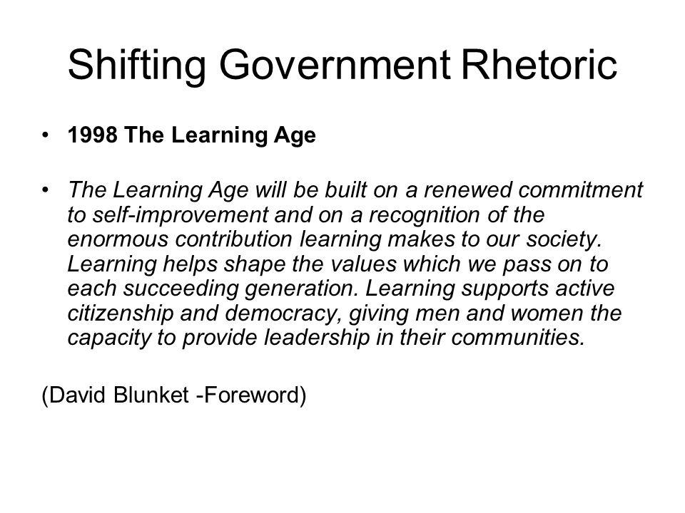 Shifting Government Rhetoric