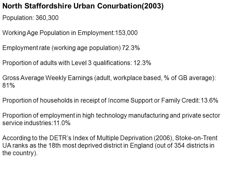 North Staffordshire Urban Conurbation(2003)