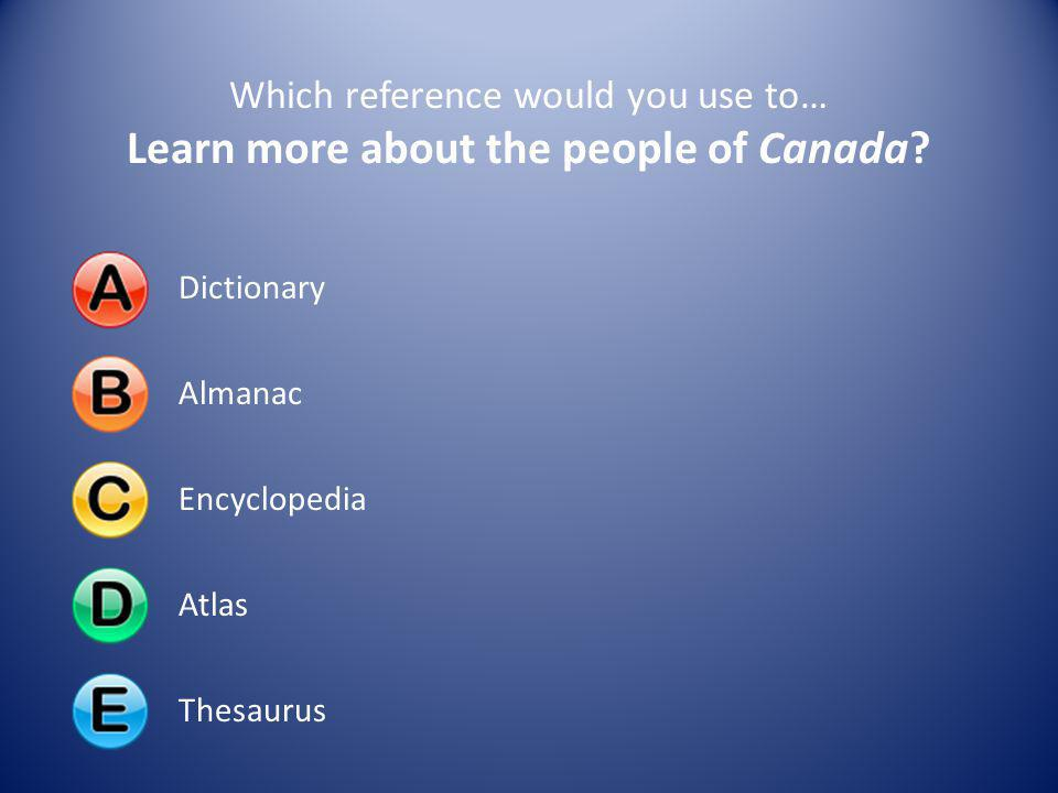 Learn more about the people of Canada