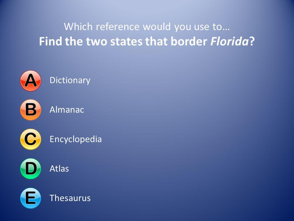 Find the two states that border Florida