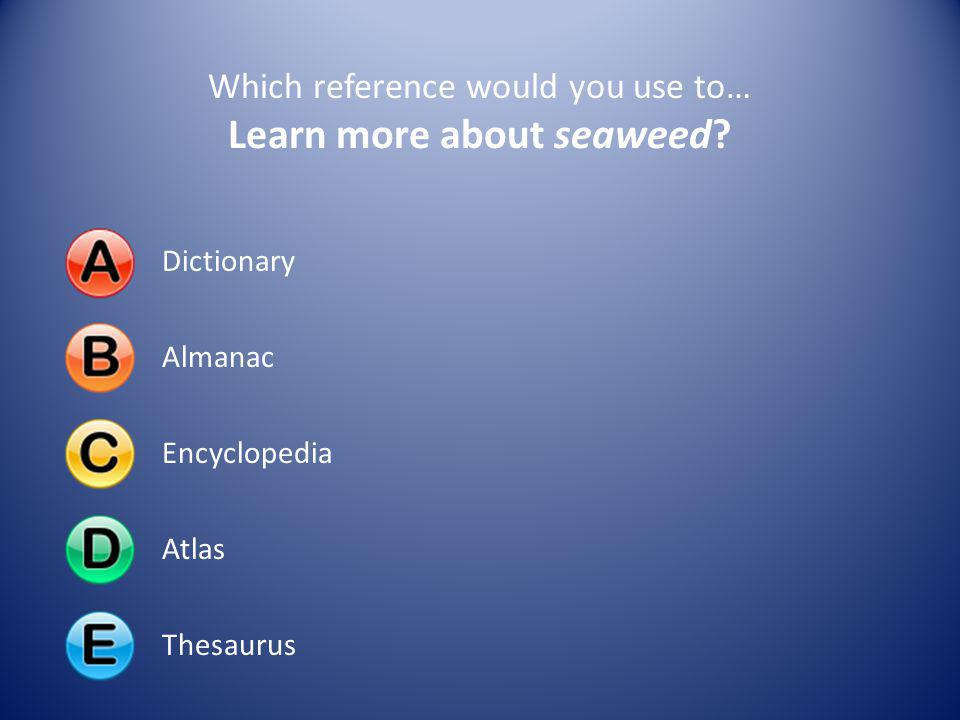 Learn more about seaweed