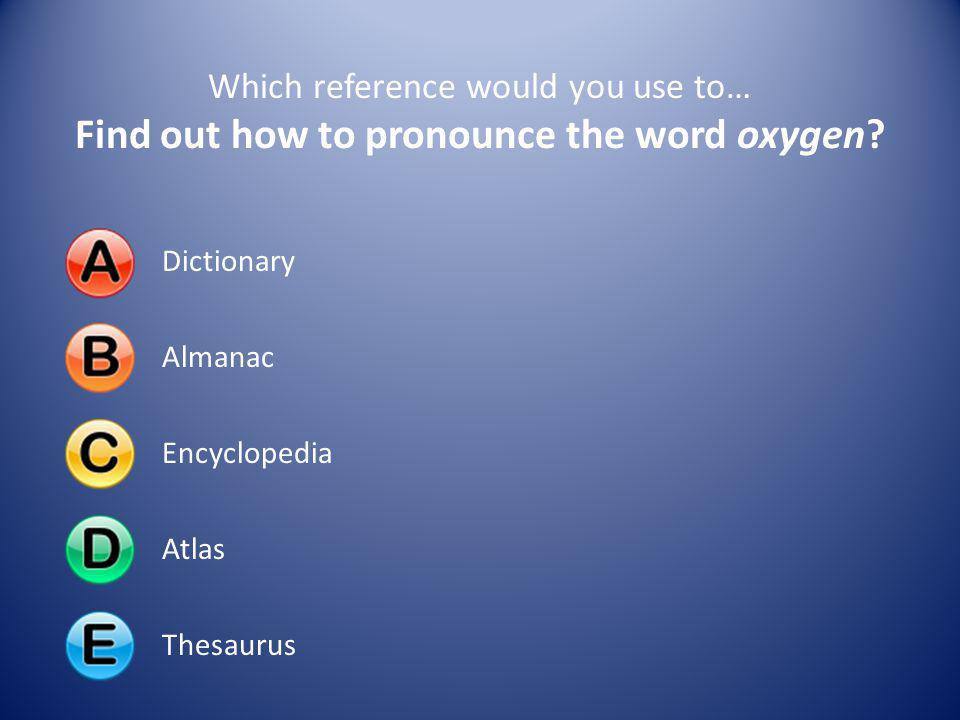 Find out how to pronounce the word oxygen