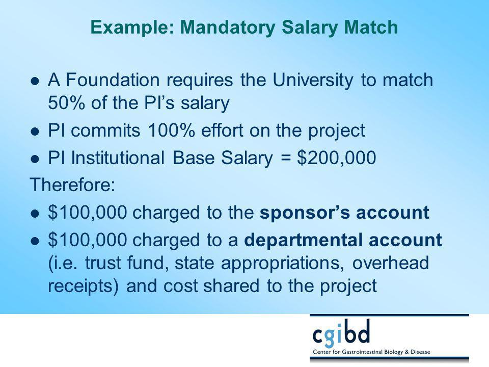 Example: Mandatory Salary Match